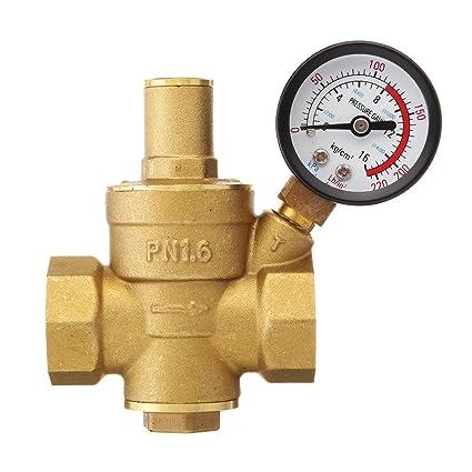 Válvula reductora de presión de agua, Sorliva DN20 ajustable de latón de 0,95