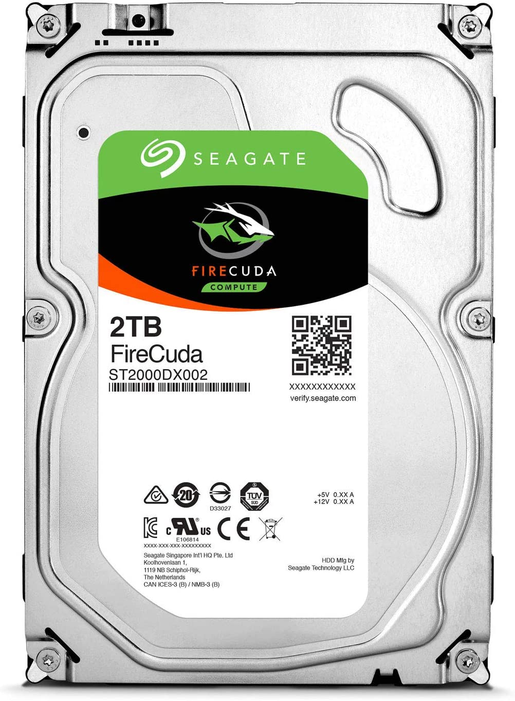 Seagate 2TB FireCuda 3.5-Inch SATA 6Gb/s 7200-RPM 64 Cache Gaming SSHD (Solid State Hybrid Drive) (ST2000DX002)