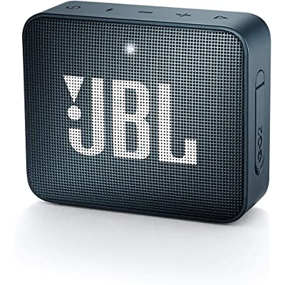 JBL GO 2 - Altavoz inalámbrico portátil con Bluetooth, resistente al agua (IPX7), hasta 5h de reproducción con sonido de alta fidelidad, azul marino
