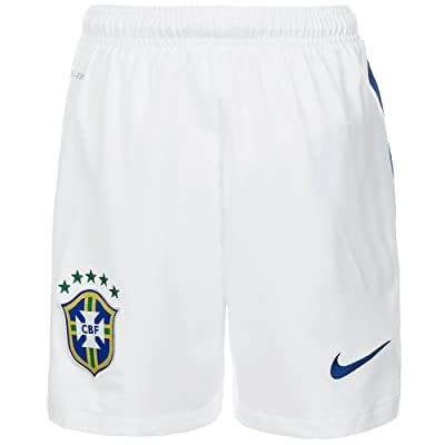 2014-15 Brazil Nike Away Shorts (White)