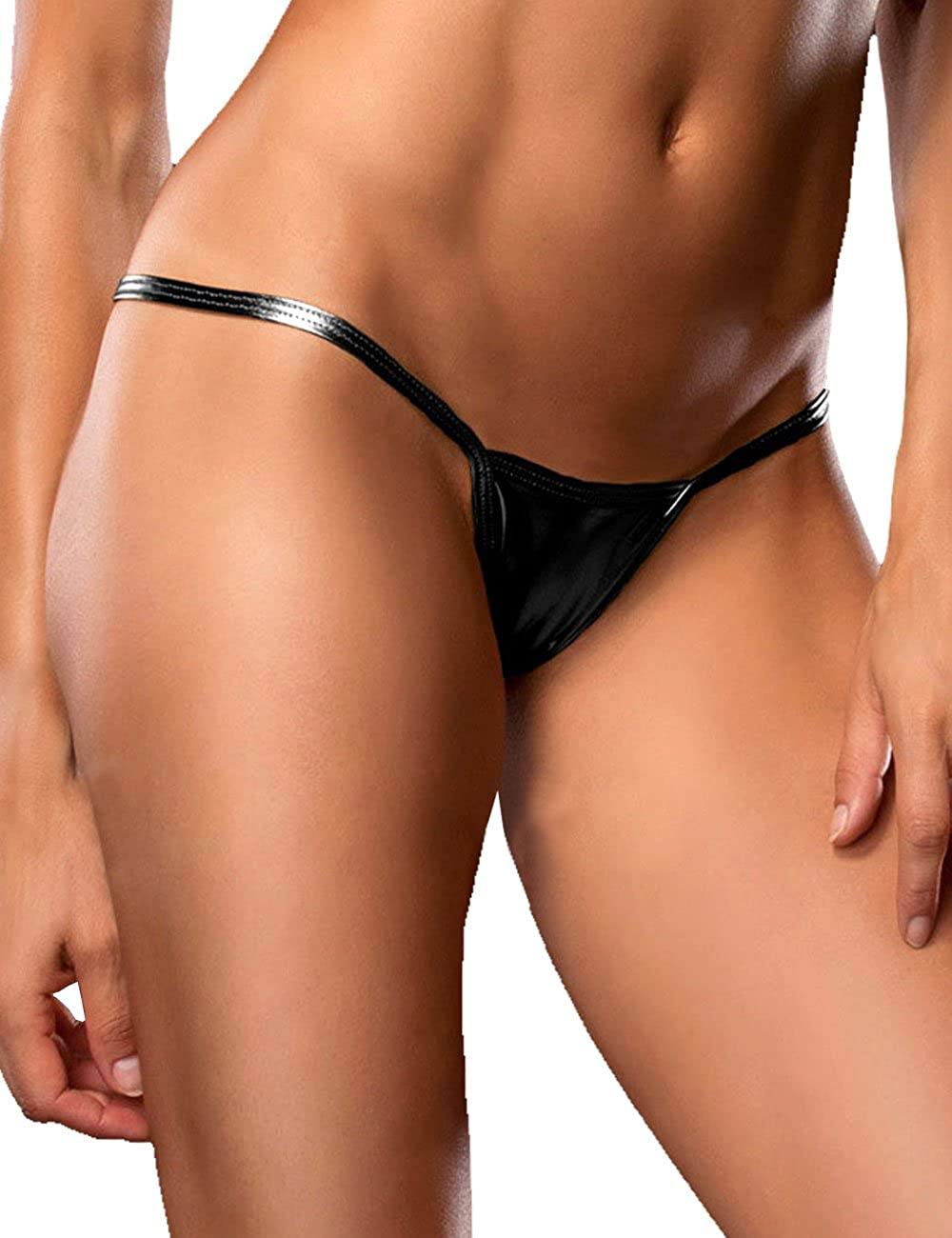 Dong Dian Women s Shiny Micro Panties Club Wear G-String Thong Black at  Amazon Women s Clothing store  a92d77746