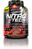 MuscleTech NitroTech Whey Protein Powder, Whey Isolate and Peptides, Milk Chocolate, 3.97 pounds