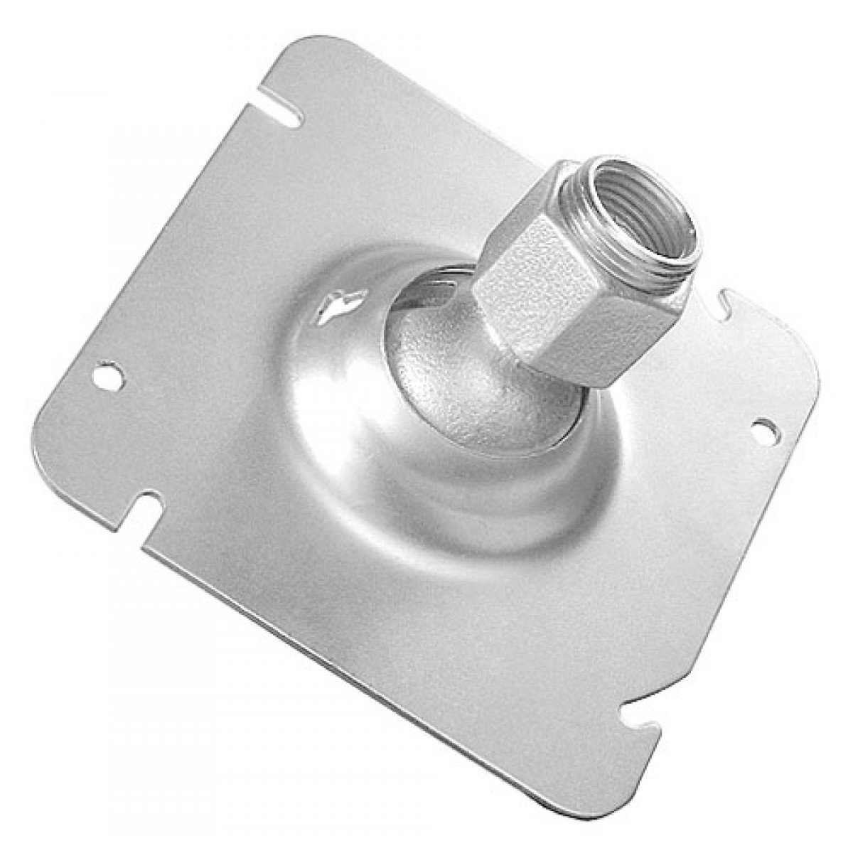 2 Pcs, Zinc Plated Steel 4-11/16 In. Square Swivel Fixture Hanger for 1/2 Or 3/4 In. Pipe to Hang Light Fixtures, Security Cameras, Speakers & Electrical/Electronic Devices