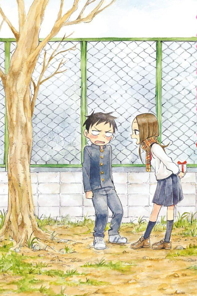 西片君をからかっている高木さんと照れている西片君のからかい上手の高木さんの壁紙