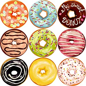 Fancy Land Donut Perforated Roll Stickers for Kids 200pcs Party Decor School Reward Sticker