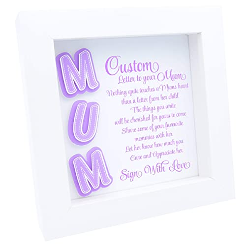 Mum Quotes In A Frame Write Letter Or Quote Personalised Gifts Mummy Choice Of 9 Colours Amazoncouk Handmade