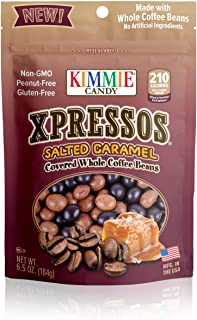 product image for Kimmie Candy Xpresso Sea Salted Caramel Covered All Natural Espresso Coffee Beans, 6.5 ounce