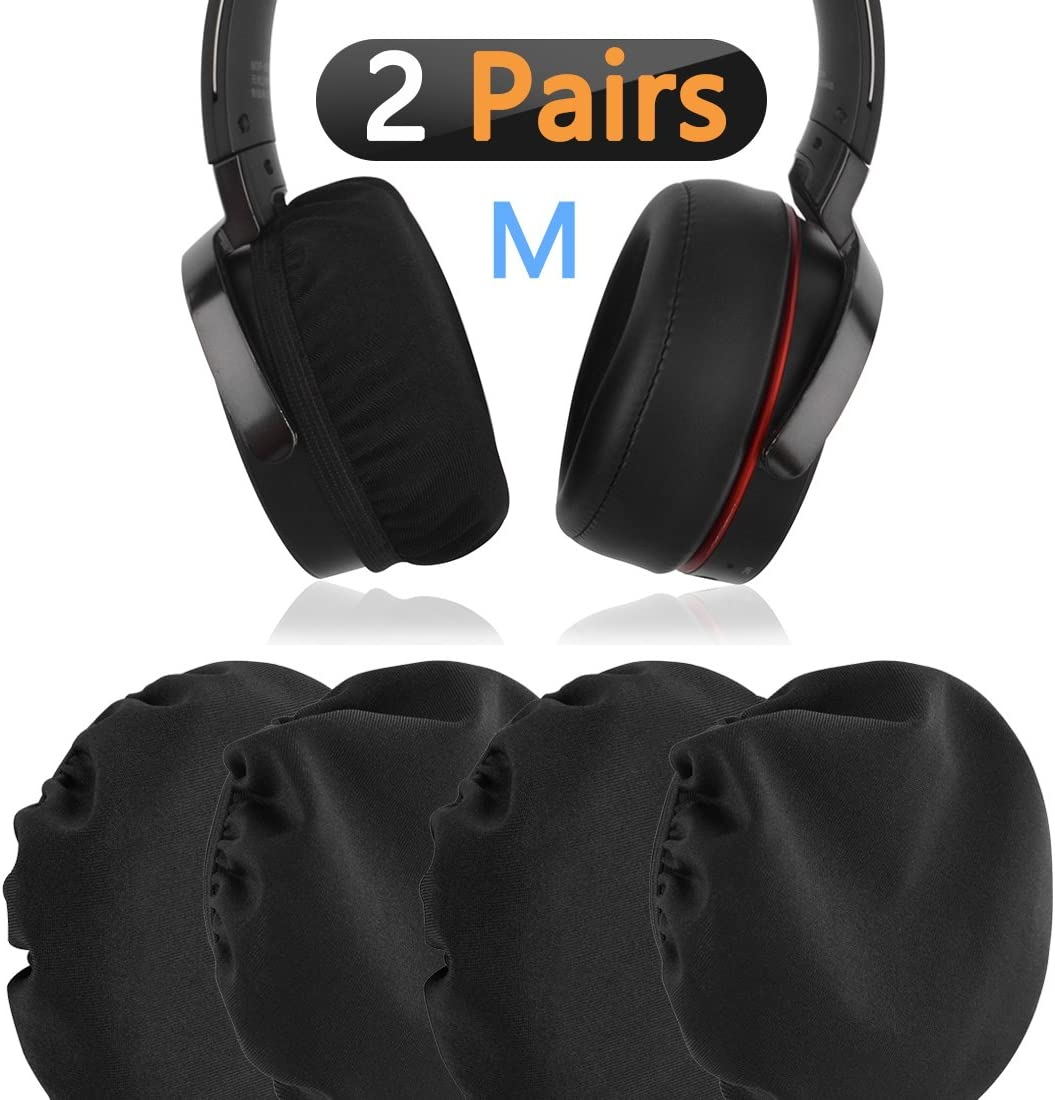 Geekria - Fundas de tela elástica para las almohadillas de los auriculares, protectores higiénicos lavables para auriculares