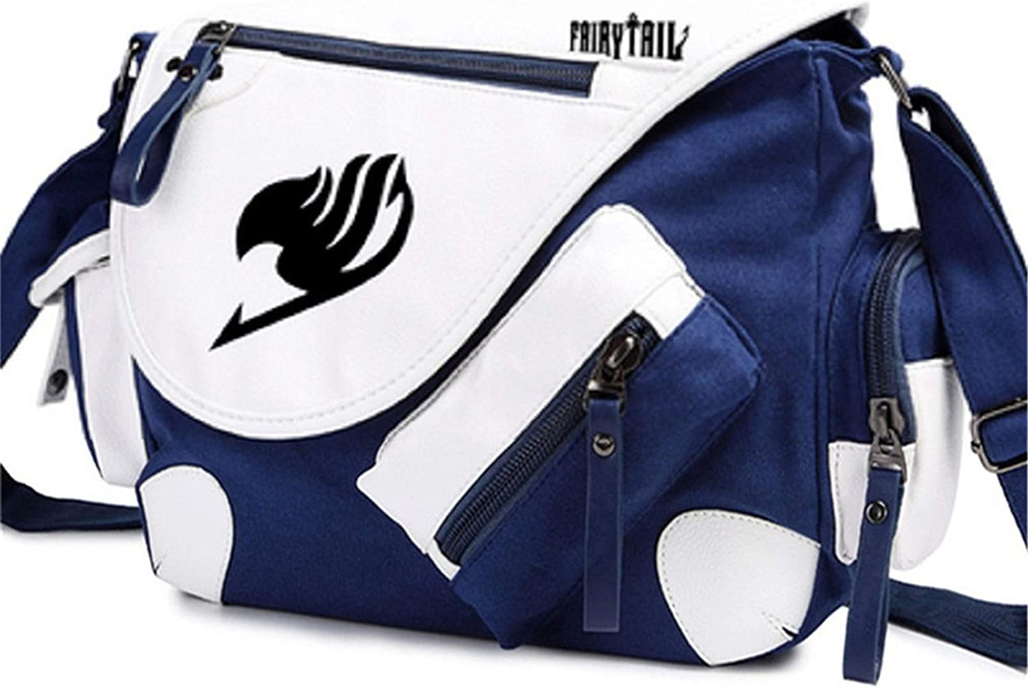 Siawasey Anime Fairy Tail Cosplay Backpack Cross-Body Tote Bag Messenger Bag Shoulder Bag