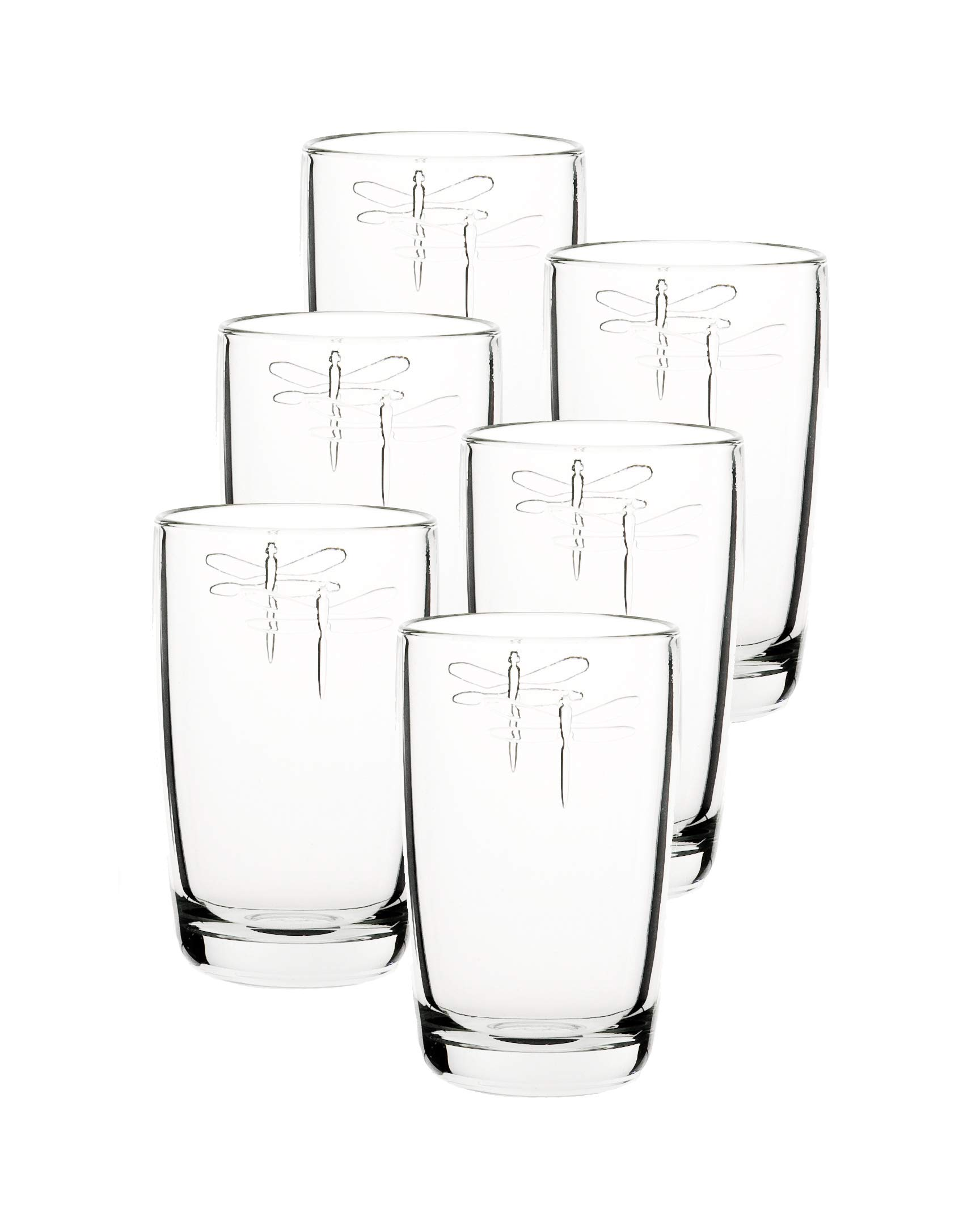 La Rochere Set Of 6, 14-ounce Dragonfly Double Old Fashioned Glasses by La Rochere