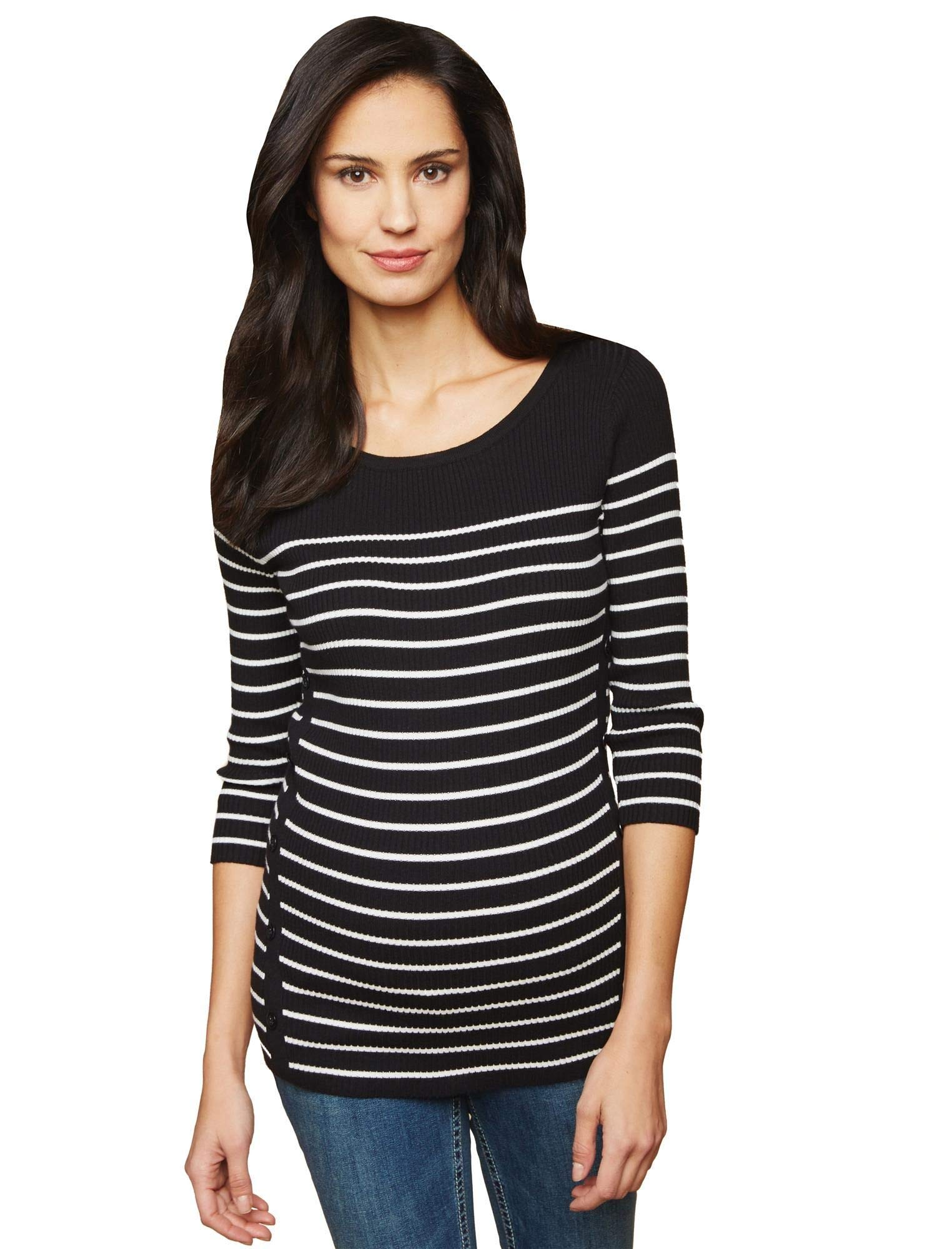 Motherhood Ribbed Button Detail Maternity Sweater