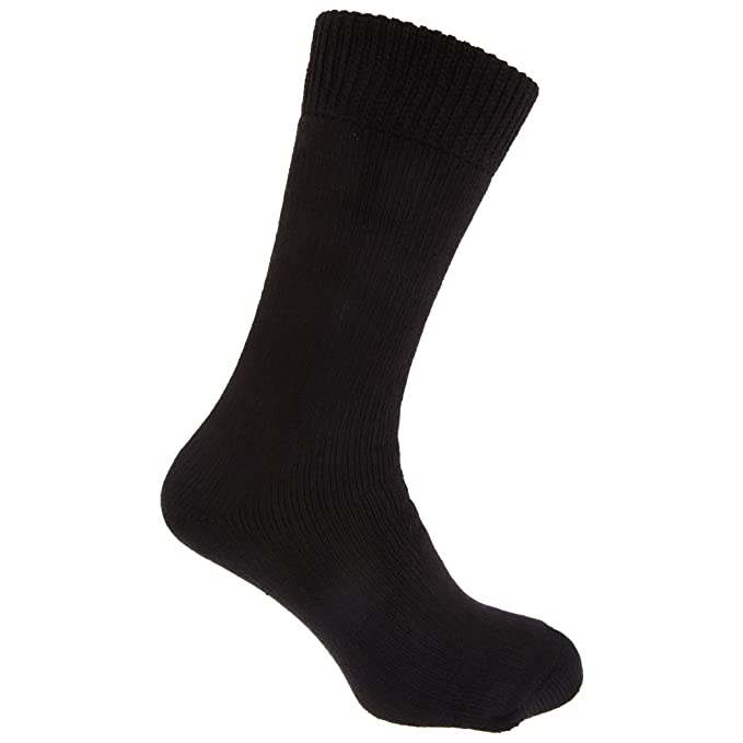 Feet Heaters - Calcetines de invierno ultra térmicos negros 2.2 Tog hombre caballero (1 par
