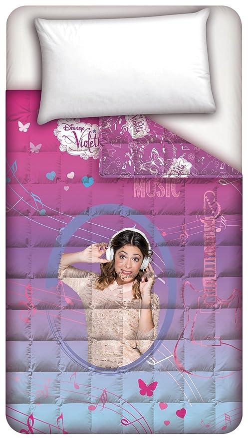 Trapunta Singola Di Violetta.Disney Trapunta Violetta Fucsia Viola Singolo 170 X 250 Cm Amazon