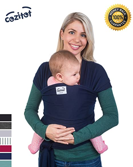 Buy Navy Blue Baby Wrap Carrier Sling By Cozitota Soft And