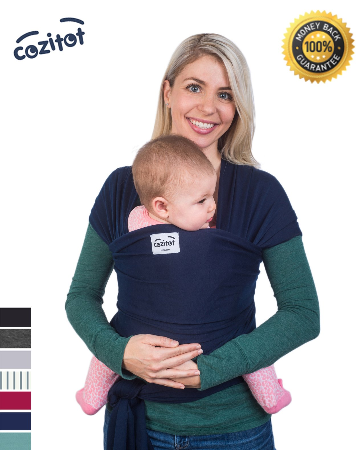 Amazon Slate Grey Baby Sling Carrier Wrap by Cozitot