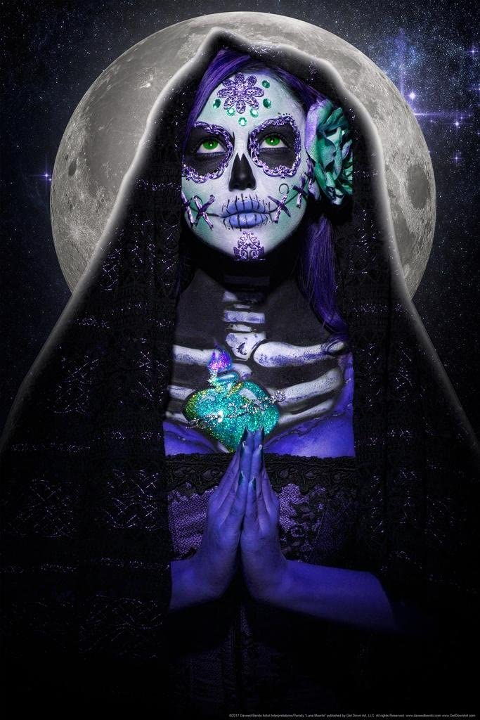 Luna Muerte by Daveed Benito Cool Wall Decor Art Print Poster 24x36