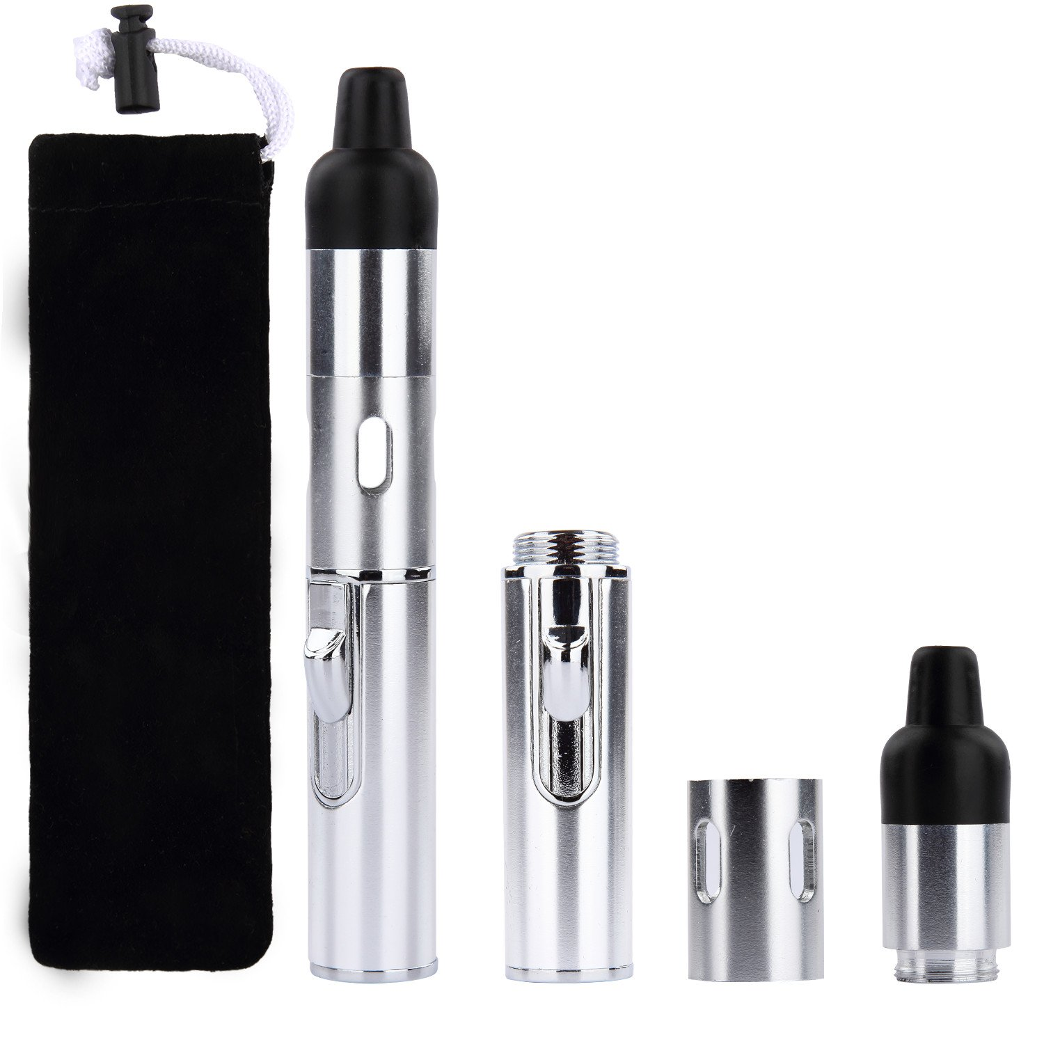 Cheap herbal vaporizers - Discoball Aluminum Alloy Dry Herb Vaporizer Tank Refillable Stainless Steel Shisha Pipe Pen Click N Vape Silver Amazon Co Uk Health Personal Care