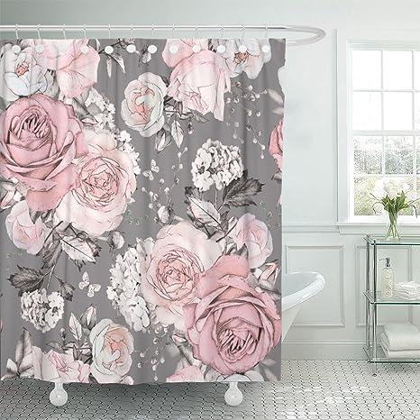 Pink Flower Basics Shower Curtain Hooks