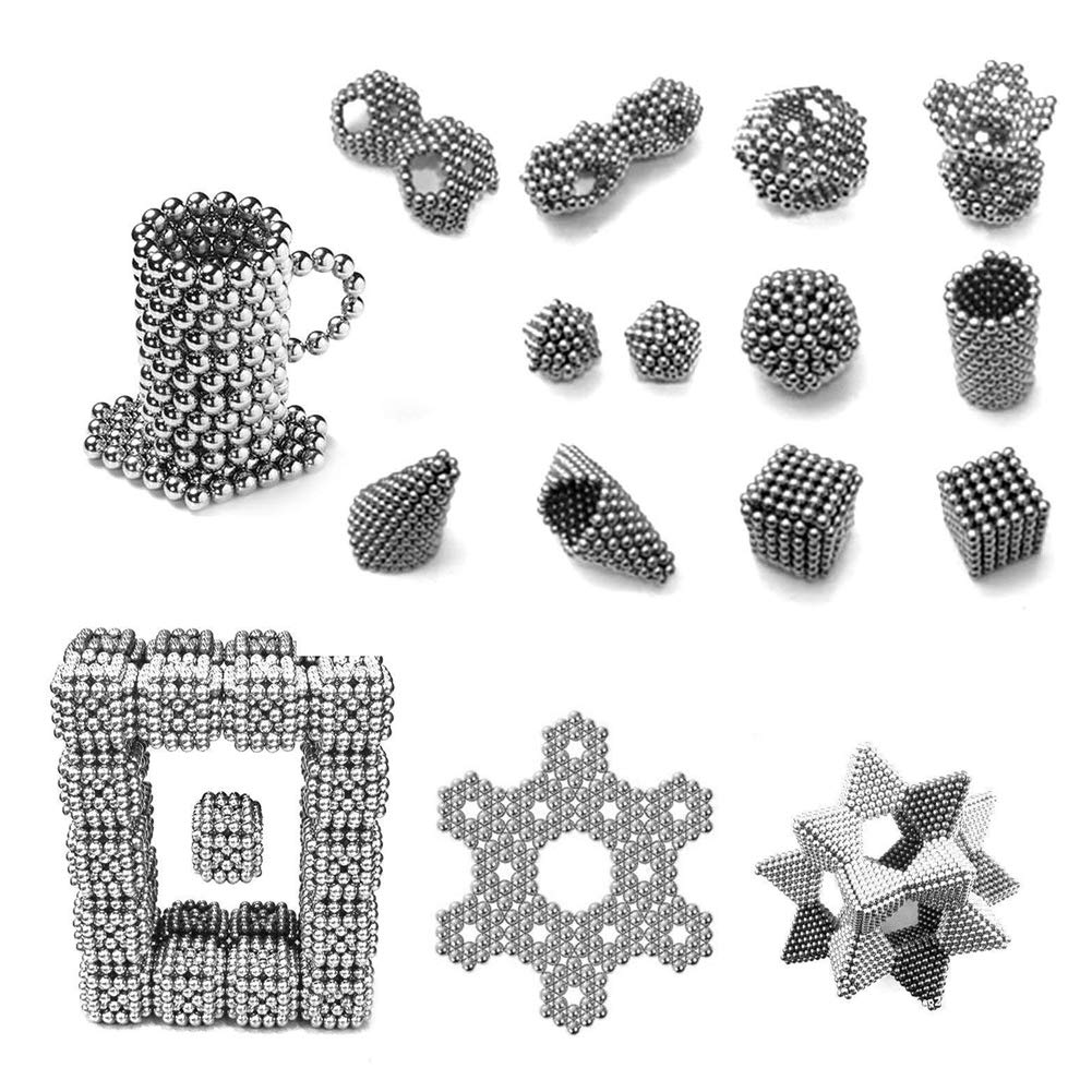 CPSYUB Magnetic Balls Upgraded 5MM 216 Pieces Magnets Building Blocks Fidget Toys for Sculpture Stress Relief Magnetic for Intelligence Development Toys