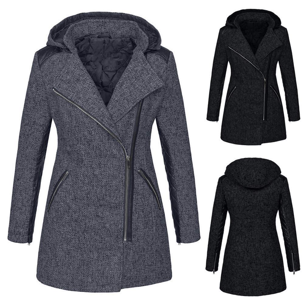 Kiminana Fashion Women Warm Slim Jacket ❤️ Thick Parka Overcoat Winter Outwear Ladies Hooded Zipper Coats