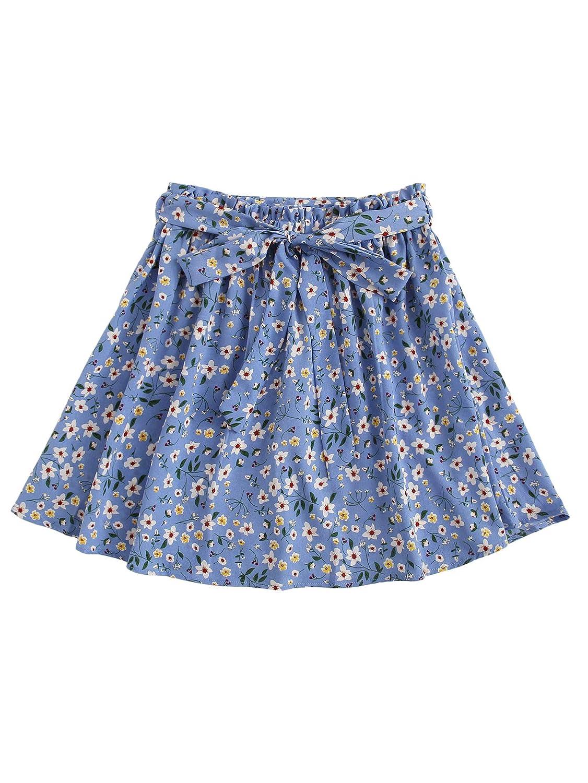 Shein Falda Corta para Mujer con Estampado Floral, con cinturón ...