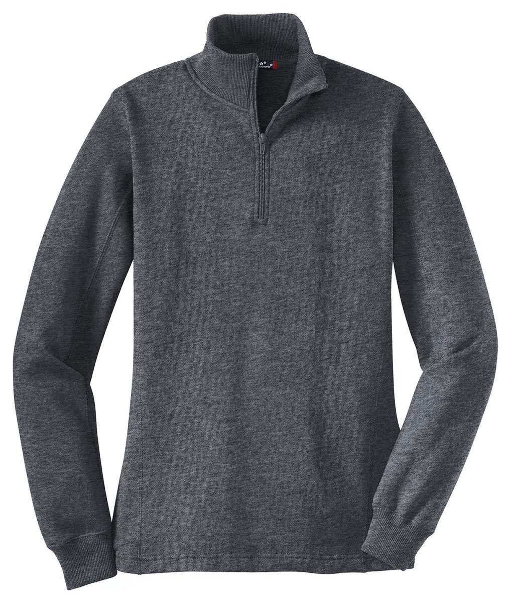 Sport-Tek Ladies 1/4-Zip Sweatshirt - XX-Large - Graphite Heather