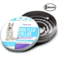 Healex Dog Flea Collar for Flea and Tick Treatment and Prevention   One Size Fits All, Collars Work for Dogs and Puppies, 100% Natural Ingredients   Helpful E-Book Included