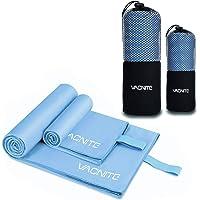VACNITE 2 Piezas Toalla de Microfibra Deportiva, Secado Rápido Toalla para Viajes Deportes Natación Yoga
