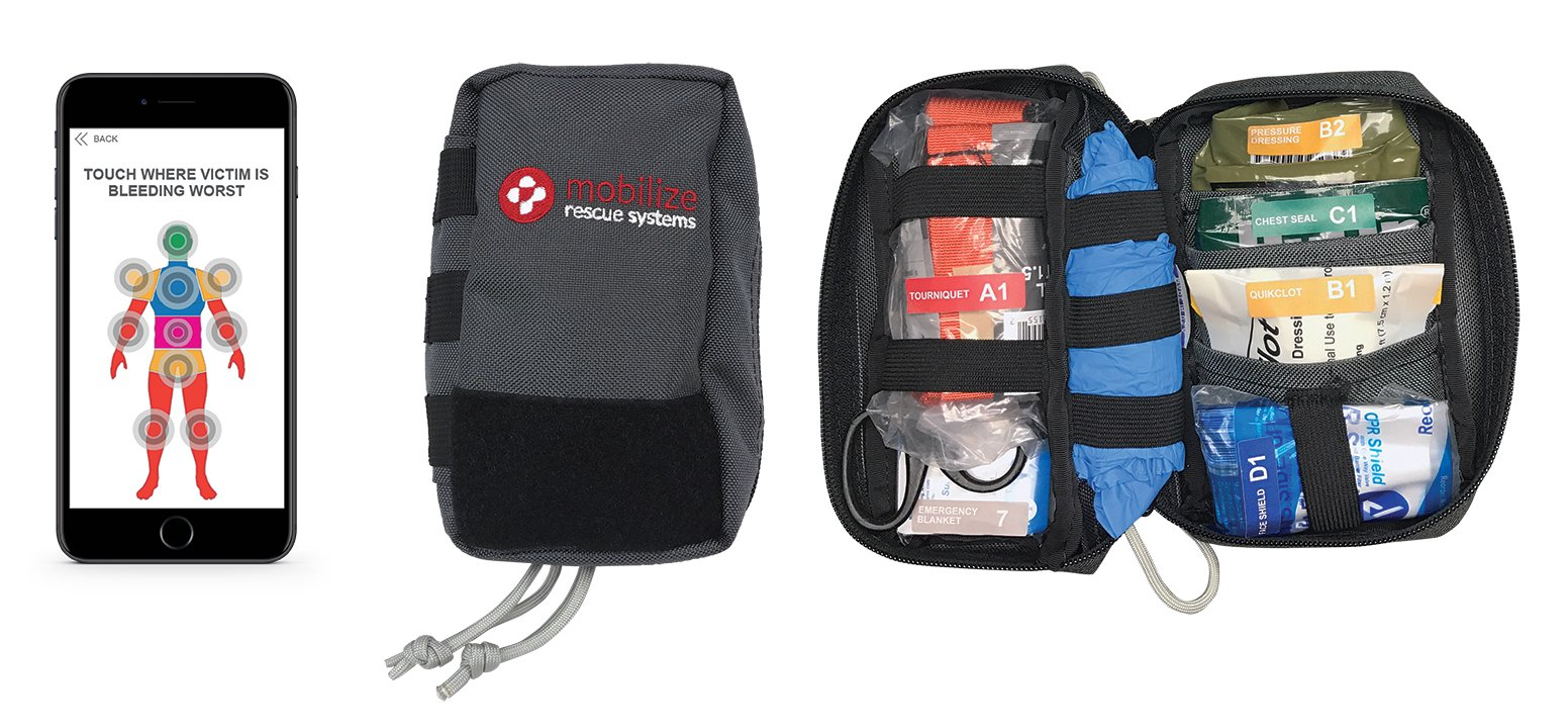 Compact Rescue System, interactive trauma kit by Mobilize