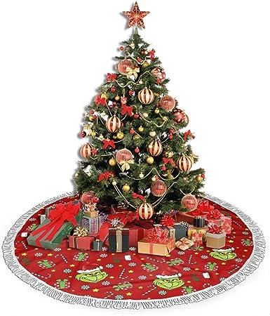 Sadie Mae The Grinch Stole Christmas Christmas Tree Skirt for Christmas De-corat