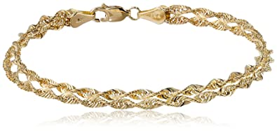 in yellow link oval i co and tradesy twisted gold tiffany bracelet