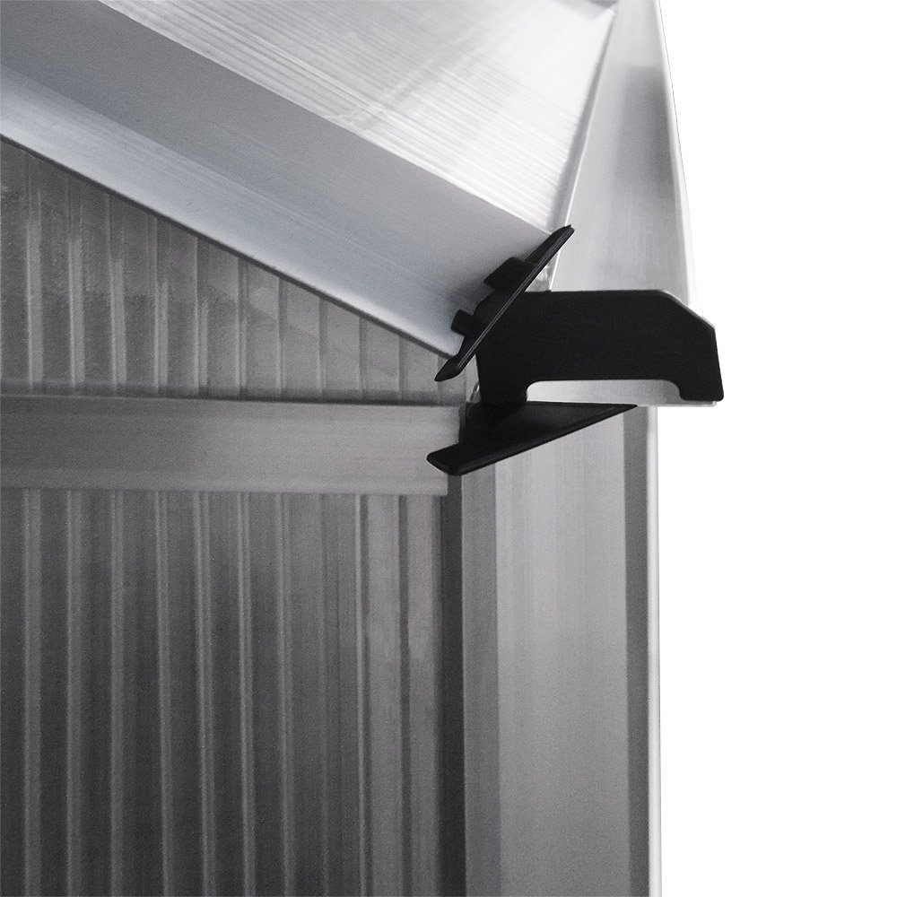 Deuba Greenhouse Polycarbonate Aluminium Window Glazing Hothouse 5.85 m³ Garden Plant Grow House Powder Coated Frame
