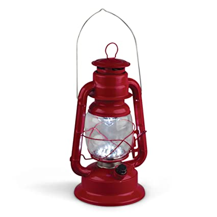 amazon com gerson 11 inch red metal 17 led hurricane lantern with