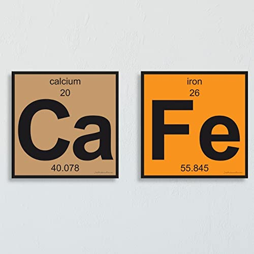 Amazon Cafe Periodic Table Of Elements Two 8x8 Metal