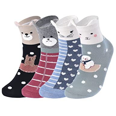 VBIGER 4 pares Calcetines Termicos Mujer Algodón Dibujos Animados Calcetines Para invierno: Amazon.es: Ropa y accesorios