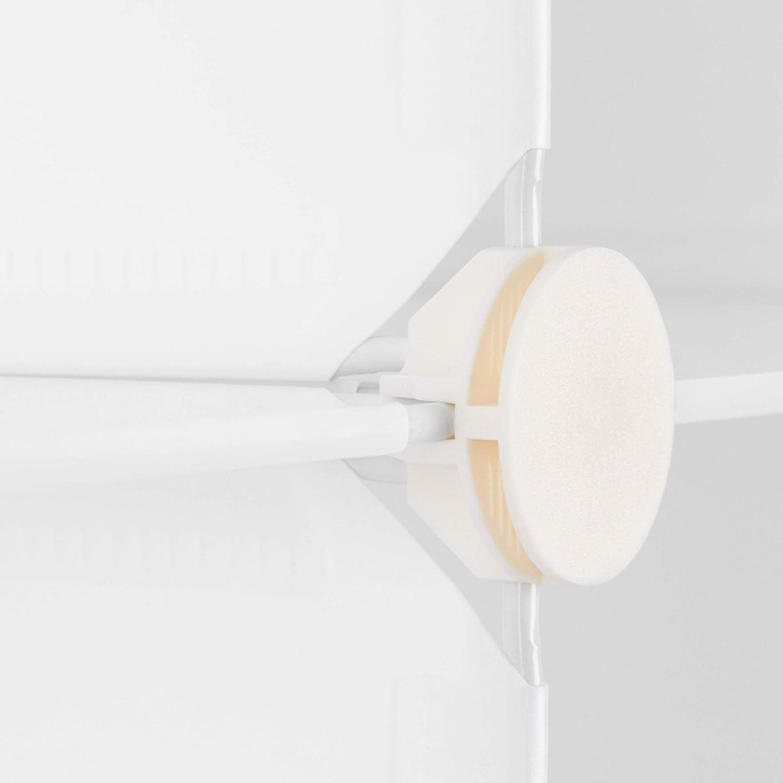 Bianco Divisorio 95 x 95 x 32 cm Plastica Fai da Te Relaxdays 10021956/_49 Scaffale Componibile 9 Scomparti Aperto