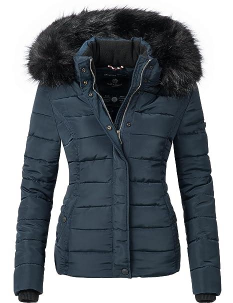 Navahoo Giacca Trapuntata Invernale da Donna con Cappuccio in Pelliccia  Sintetica Miamor 9 Colori XS-XL  Amazon.it  Abbigliamento fd9368b95a5