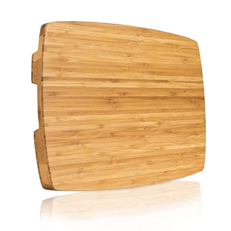 Premium Bamboo Thick Cutting Board 18x12x14 Extra Large End Grain Kitchen Chopping Block Professional Design Antibacterial Butcher Block