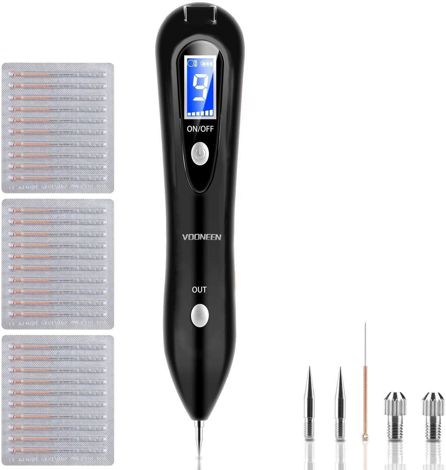 Skin Tags Remover Pen Vooneen Mole Remover With 9 Strength Levels Led Spotlight Portable Rechargeable Skin Tag Removal Pen For Wart Freckle Nevus Dark Spot And Small Tattoo Black Amazon Co Uk Beauty