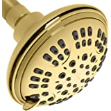 ShowerMaxx | Luxury Spa Series | 6 Spray Settings 4.5 inch Adjustable High Pressure Shower Head | MAXX-imize Your Shower with Easy-to-Remove Flow Restrictor Showerhead | Polished Brass/Gold Finish