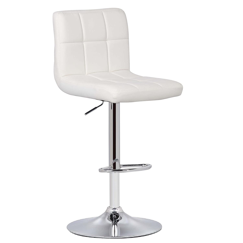 POLY BARK Griffin Adjustable Barstool, Set of 2, White