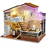 Magic House(マジック ハウス)Full of Shine 子犬とピアノ ミニチュア LEDとオルゴール付属 防塵ケース付属 手作りキットセット
