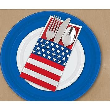 Amscan Patriotic Cutlery and Silverware Holder - 1 pack  sc 1 st  Amazon.com & Amazon.com: Amscan Patriotic Cutlery and Silverware Holder - 1 pack ...