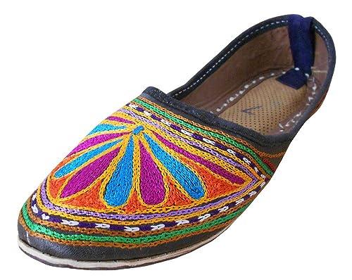 kalra Creations Mujer Tradicional Indio Piel Zapatos de Casual: Amazon.es: Zapatos y complementos