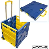 Voche® Extra Large Folding Shopping Trolley Cart 40Kg Capacity Car Boot Storage Box