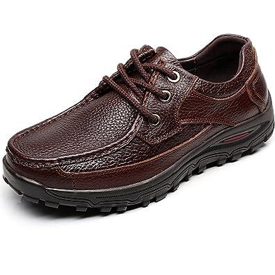 Onlineshoe Chaussures En Cuir De Luxe Hommes Glissent Mules Bordées De Semelles Dures Utilisées Brun - Brun, Uk11 - Eu45 - Us12 Noir