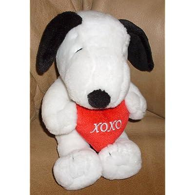 Peanuts Hallmark Plush Snoopy Holding Heart XOXO: Toys & Games