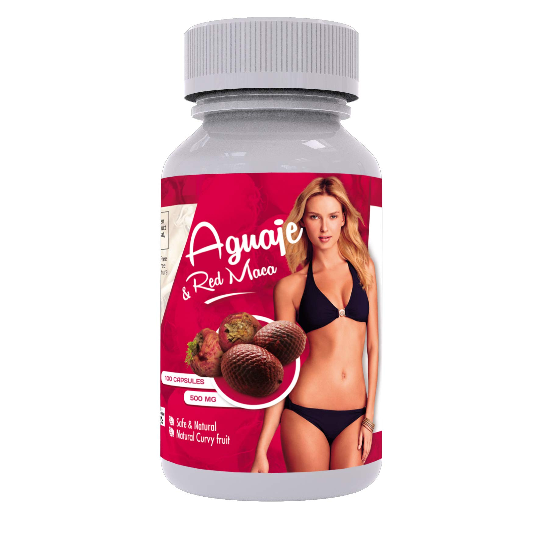 Curves Capsules for Women - Natural Supplement - 1000 mg per Serving - Butt and Breast Enhancement Pills - Aguaje and Red Maca Root from Peru - Kosher Certified - Free PDF Guide by Sikyriah