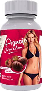Curves Capsules for Women - Natural Supplement - 1000 mg per Serving - Butt and Breast Enhancement Pills - Aguaje and Red Maca Root from Peru - Kosher Certified - Free PDF Guide