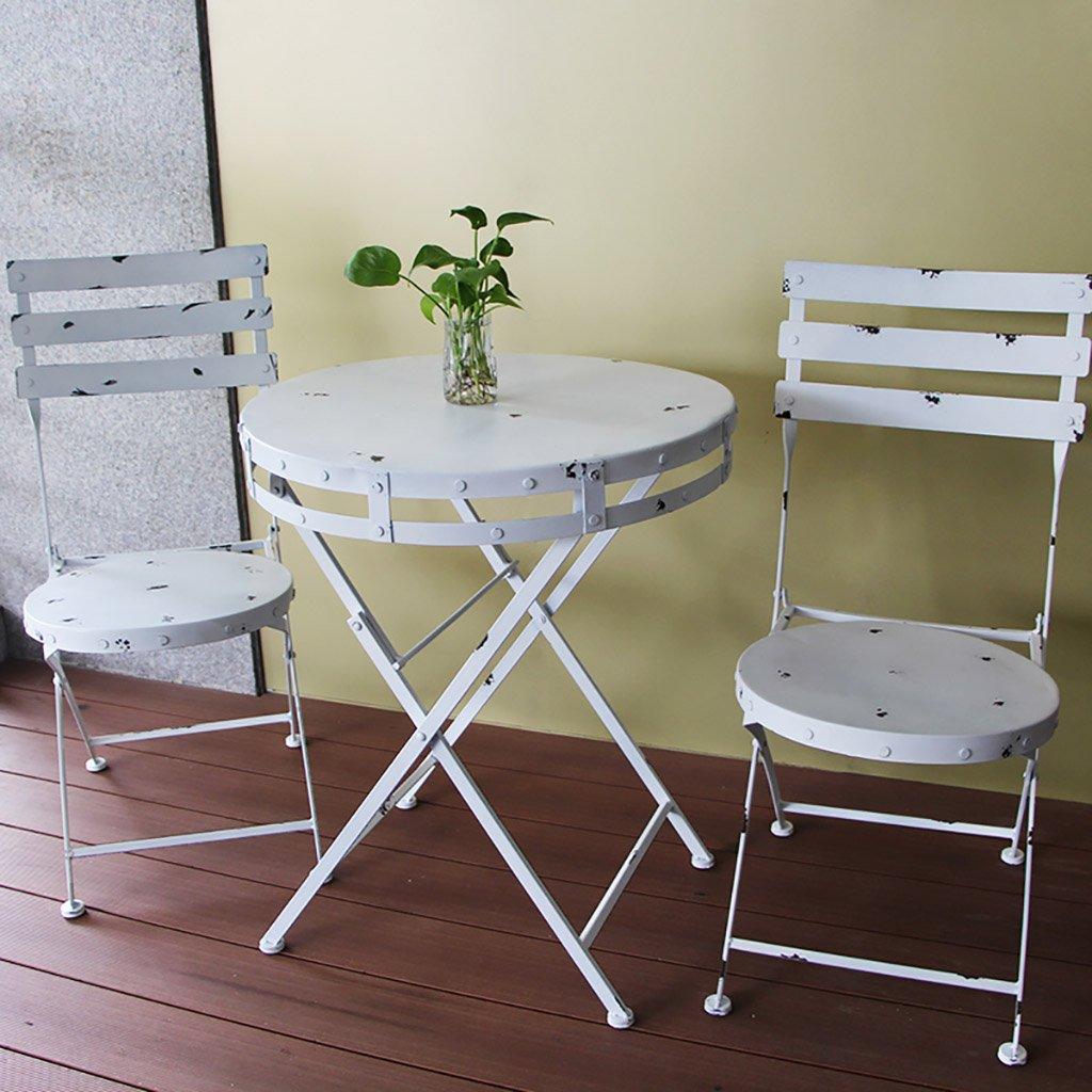 gartenm bel sets american style village iron klappstuhl old casual cafe tischstuhl balkon. Black Bedroom Furniture Sets. Home Design Ideas